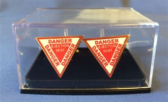 DANGER EJECTION SEAT CUFFLINKS
