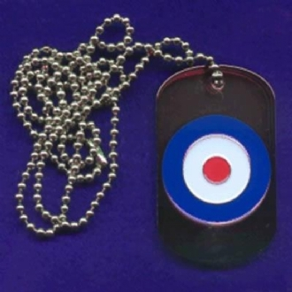 RAF ROUNDEL ENAMEL DOG TAG WITH CHAIN