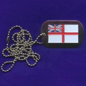 RN ENSIGN ENAMEL DOG TAG WITH CHAIN
