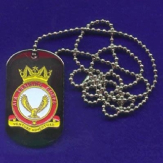 ATC CREST ENAMEL DOG TAG WITH CHAIN