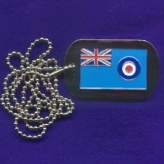 RAF ENSIGN DOG TAG WITH CHAIN
