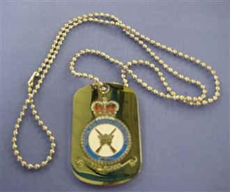 RAF REGIMENT DOG TAG WITH CHAIN