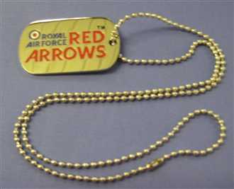 RED ARROWS LOGO DOG TAG WITH CHAIN