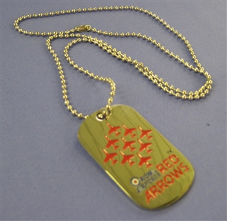RED ARROWS DIAMOND 9 DOG TAG WITH CHAIN