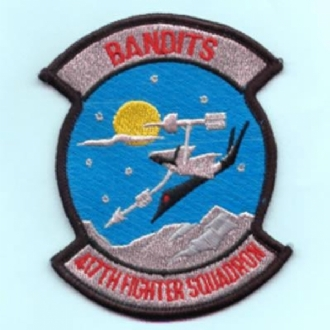417 FS BANDITS F-117 EMBROIDERED BADGE