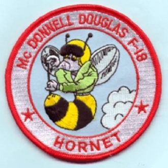 F-18 HORNET - CARTOON EMBROIDERED BADGE