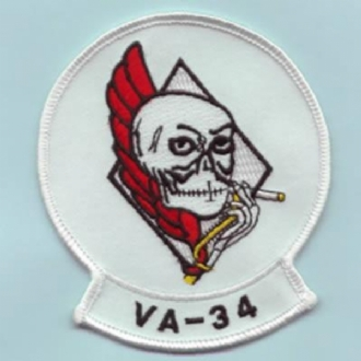 VA-34 BLUE BLASTERS (SMOKING SKULLS)