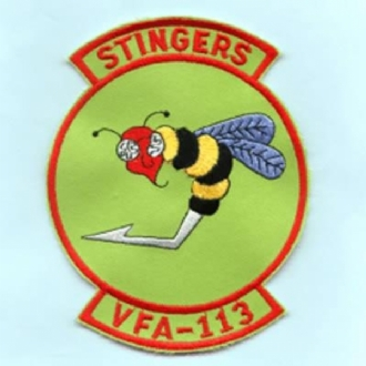 VFA-113 STINGERS - GREEN EMBROIDERED BADGE