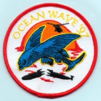 EX. OCEAN WAVE 1997 EMBROIDERED BADGE