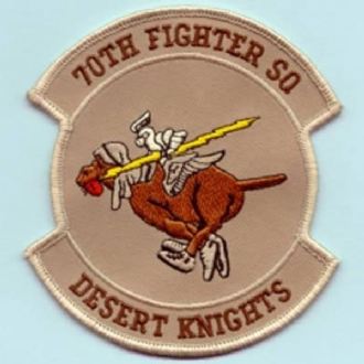 70 FS EMBROIDERED BADGE