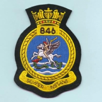 846 NAS CREST EMBROIDERED BADGE