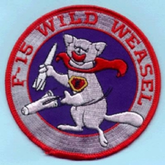 F-15 WILD WEASEL EMBROIDERED BADGE