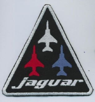 JAGUAR LOGO (3 PLANES) EMBROIDERED BADGE