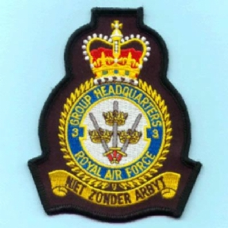 3 GROUP HQ CREST EMBROIDERED BADGE