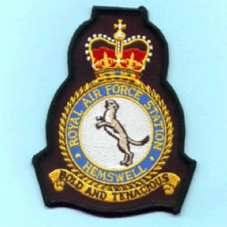 RAF HEMSWELL CREST EMBROIDERED BADGE
