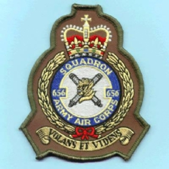 656 AAC CREST EMBROIDERED BADGE