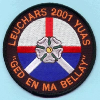 YUAS LEUCHARS 2001 EMBROIDERED BADGE