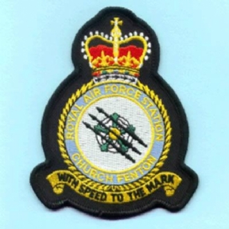 RAF CHURCH FENTON OFFICIAL CREST EMBROIDERED BADGE