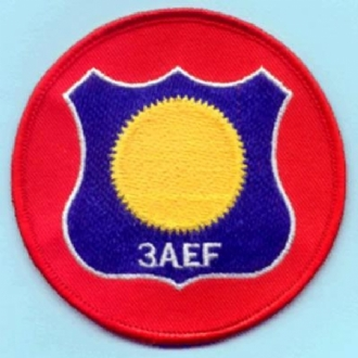 3 AEF ROUND EMBROIDERED BADGE