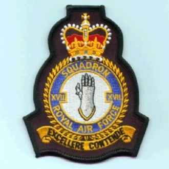 17 SQN OFFICIAL CREST EMBROIDERED BADGE