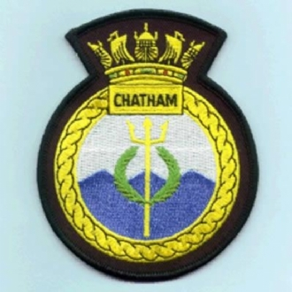 HMS CHATHAM OFFICIAL CREST