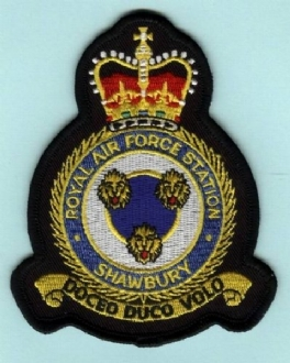 RAF SHAWBURY OFFICIAL CREST EMBROIDERED BADGE