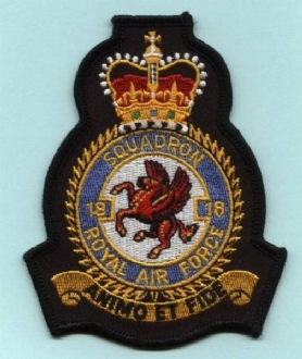 18 SQN OFFICIAL CREST EMBROIDERED BADGE