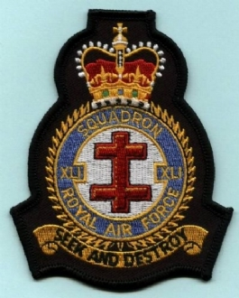 41 SQN OFFICIAL CREST EMBROIDERED BADGE