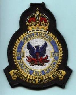 57 SQN CREST BADGE KINGS CROWN