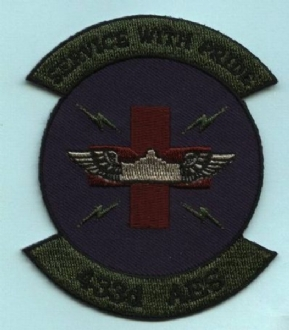 433 AES EMBROIDERED BADGE