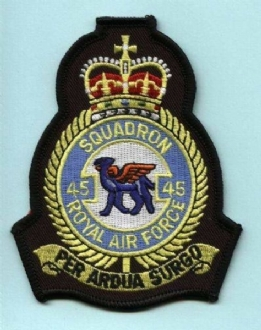 45 SQN CREST CUT TO SHAPE