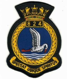 824 SQN NAS  CREST EMBROIDERED BADGE