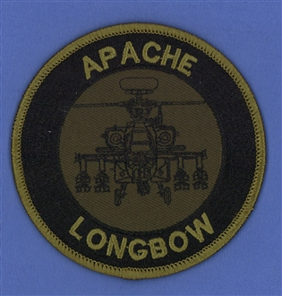 APACHE LONGBOW EMBROIDERED BADGE