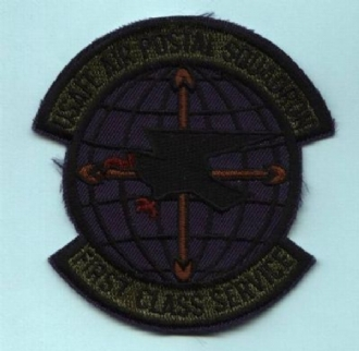 USAFE AIR POSTAL SQN EMBROIDERED BADGE