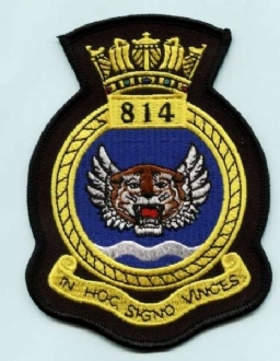 814 NAS CREST EMBROIDERED BADGE