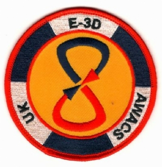 8 SQN - UK E-3D AWACS EMBROIDERED BADGE