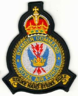 RAF BOMBER COMMAND CREST KINGS CROWN