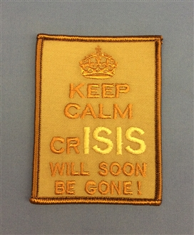 KEEP CALM crISIS BADGE