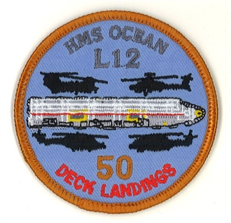 HMS OCEAN 100 DECK LANDINGS BADGE