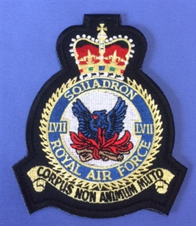 57 SQN CREST BADGE