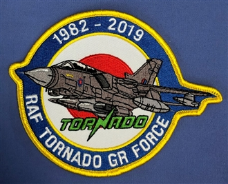 TORNADO GR FORCE 1982-2019 SHAPED BADGE