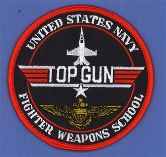 TOP GUN - USNFWS (BLACK) BADGE