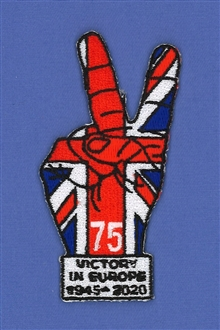 VICTORY IN EUROPE 75TH ANNIVERSARY BADGE