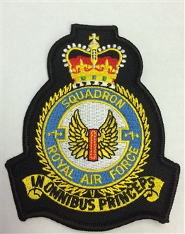1 SQN OFFICIAL CREST EMBROIDERED BADGE