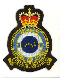 7 SQN OFFICIAL CREST EMBROIDERED BADGE