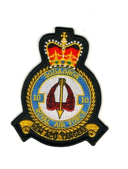 10 SQN OFFICIAL CREST EMBROIDERED BADGE