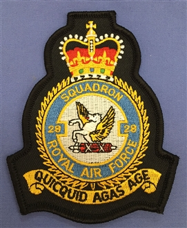 28 SQN CREST BADGE