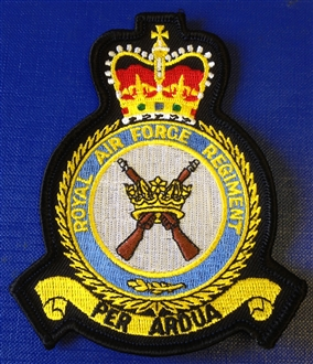 RAF REGIMENT OFFICIAL CREST EMBROIDERED BADGE