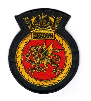 HMS DRAGON EMBROIDERED BADGE