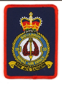 10 SQN OFFICIAL CREST BADGE (RECTANGLE)